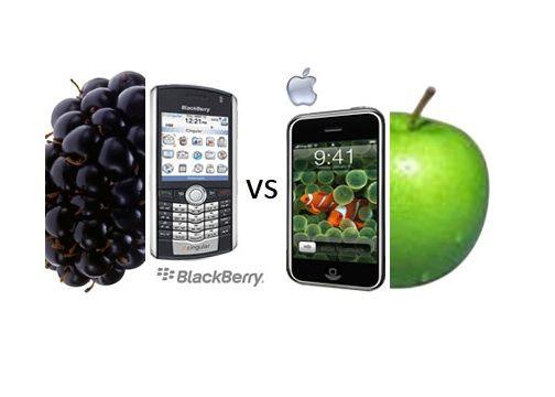 Apple frente BlackBerry, la Manzana se come a la Mora